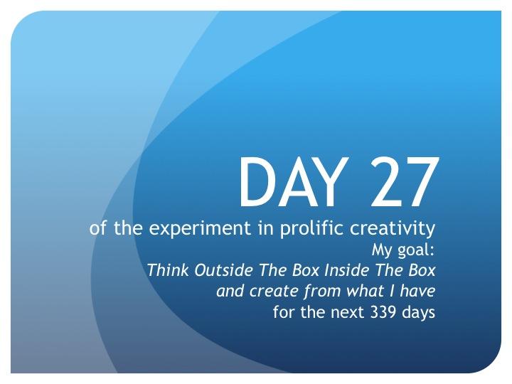 Day 27:  Talk Nice