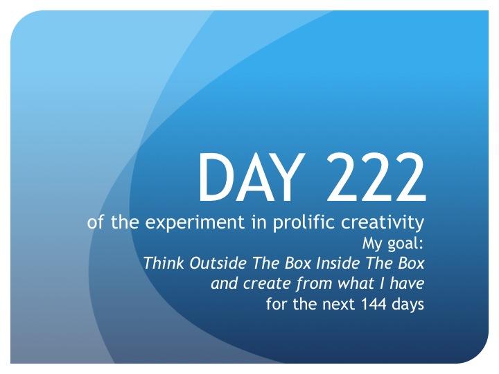 Day 222:  The Inbetweener