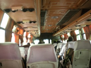 Our bus from Delhi to Agra