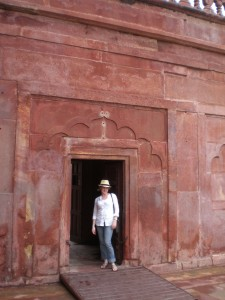 Stephanie outside the Taj Mahal - Agra, India