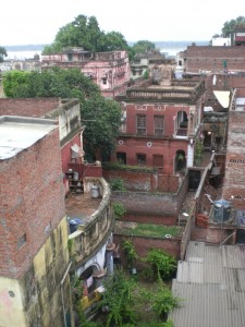 View from our hotel, with the ghats in the background - Varanasi, India