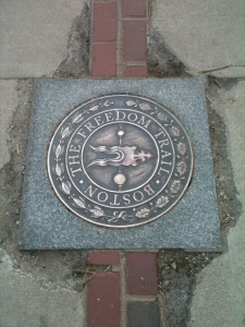 Freedom Trail Plaque and Brick