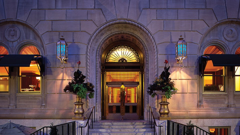 Loews Boston Back Bay Hotel - Front Doors, Formally Police Headquarters
