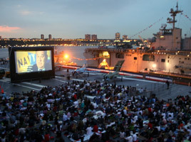 Intrepid Summer Movie Series. Photo: courtesy of the Intrepid Sea, Air and Space Museum.