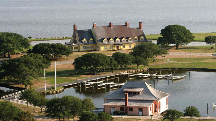 The Whalehead Club - Corolla, North Carolina Photo: courtesy of Visit Whalehead.