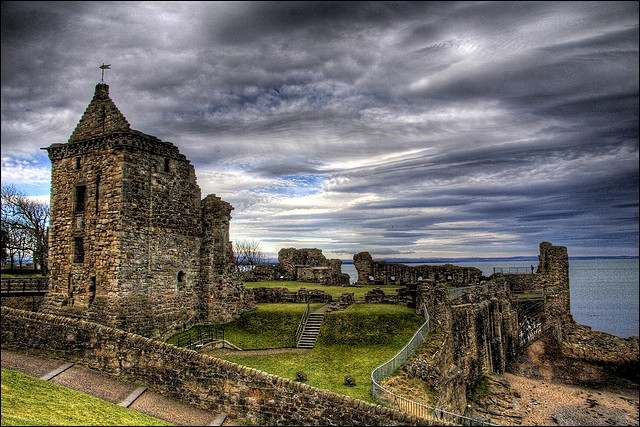 St. Andrews Castle - St. Andrews, Scotland. Photograph courtesy of C Ray Dancer (Flickr).