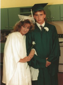 Eddie & I about to graduate from high school